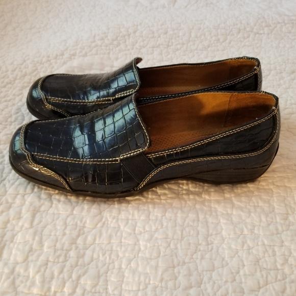 Black Leather 7 W US SOUL Naturalizer Womens WILAMINA Loafer
